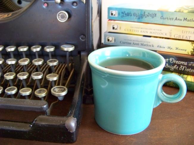 Typewriter & cup 2